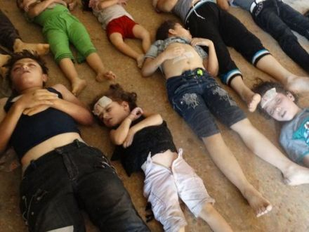 Evidence of a chemical attack - dead Syrian children