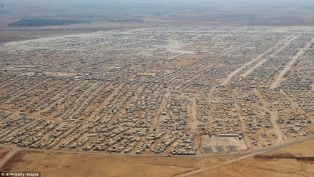 Zaatari refugee camp in Jordan houses 160,000 of the two million refugees.