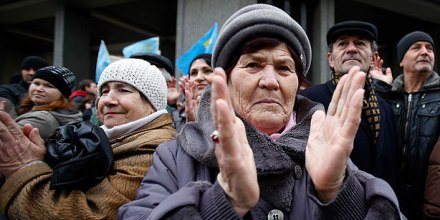 How Russian ethnics are able to show themselves in Crimea