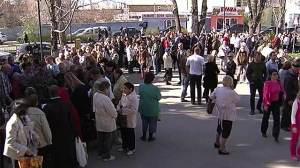 queues outside passport office Crimea