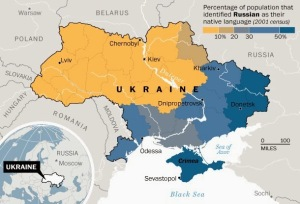 Ukraine % ethnic Russian population