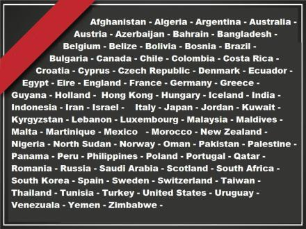 For Gaza - countries